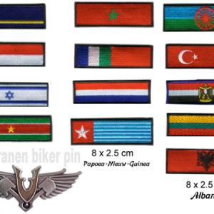 patch funtie en vlaggen